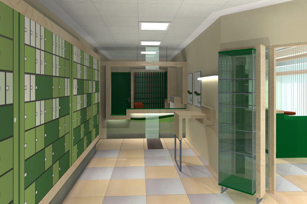 Magyar Posta belsőépítészet building design