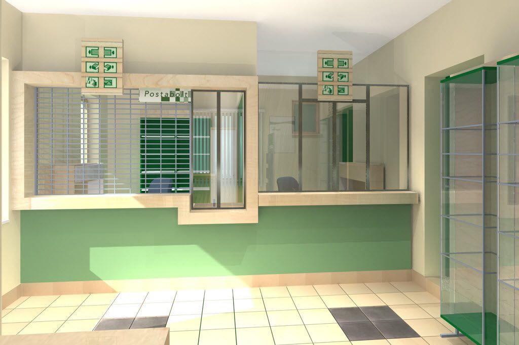 Magyar Posta belsőépítészet 3d architectural modelling
